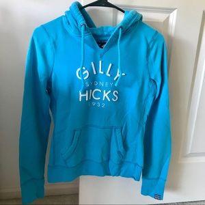 Aqua blue Gilly Hicks hoodie